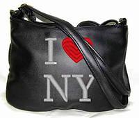 """СУМОЧКА """"МINI"""" - №44 """"I love NY"""" - черная, фото 1"""
