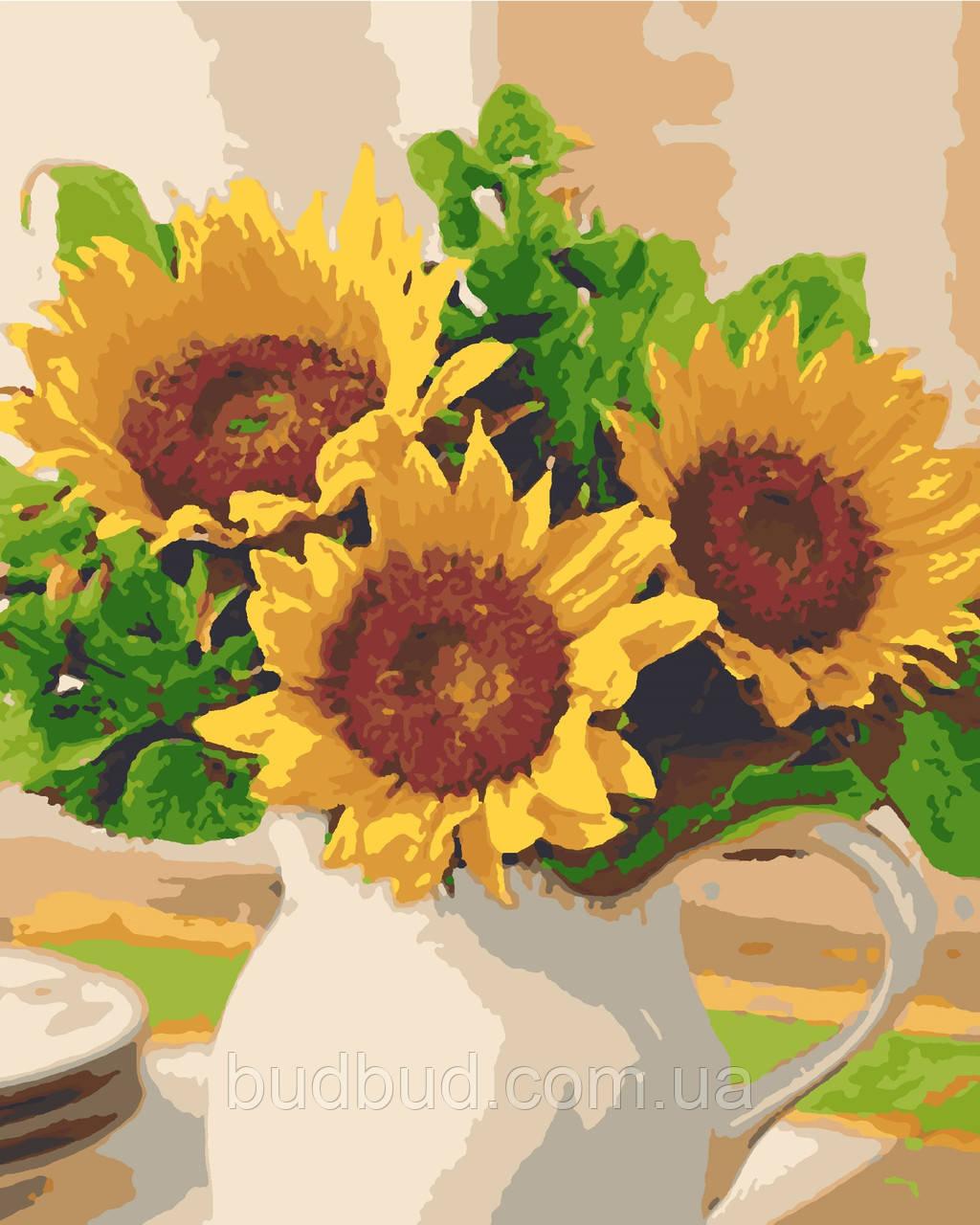 "Картина по номерам ""Солнце в вазе"" 40х50 1 шт."