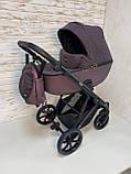 Детская универсальная коляска 2 в 1 Expander DEXO цвет Plum, водоотталкивающая ткань + эко-кожа D-42303, фото 9