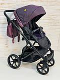 Детская универсальная коляска 2 в 1 Expander DEXO цвет Plum, водоотталкивающая ткань + эко-кожа D-42303, фото 4