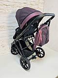Детская универсальная коляска 2 в 1 Expander DEXO цвет Plum, водоотталкивающая ткань + эко-кожа D-42303, фото 10