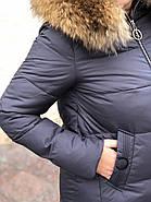 Пуховик з капюшоном узлісся натуральній хутро Visdeer 813-B11-Grey, фото 7