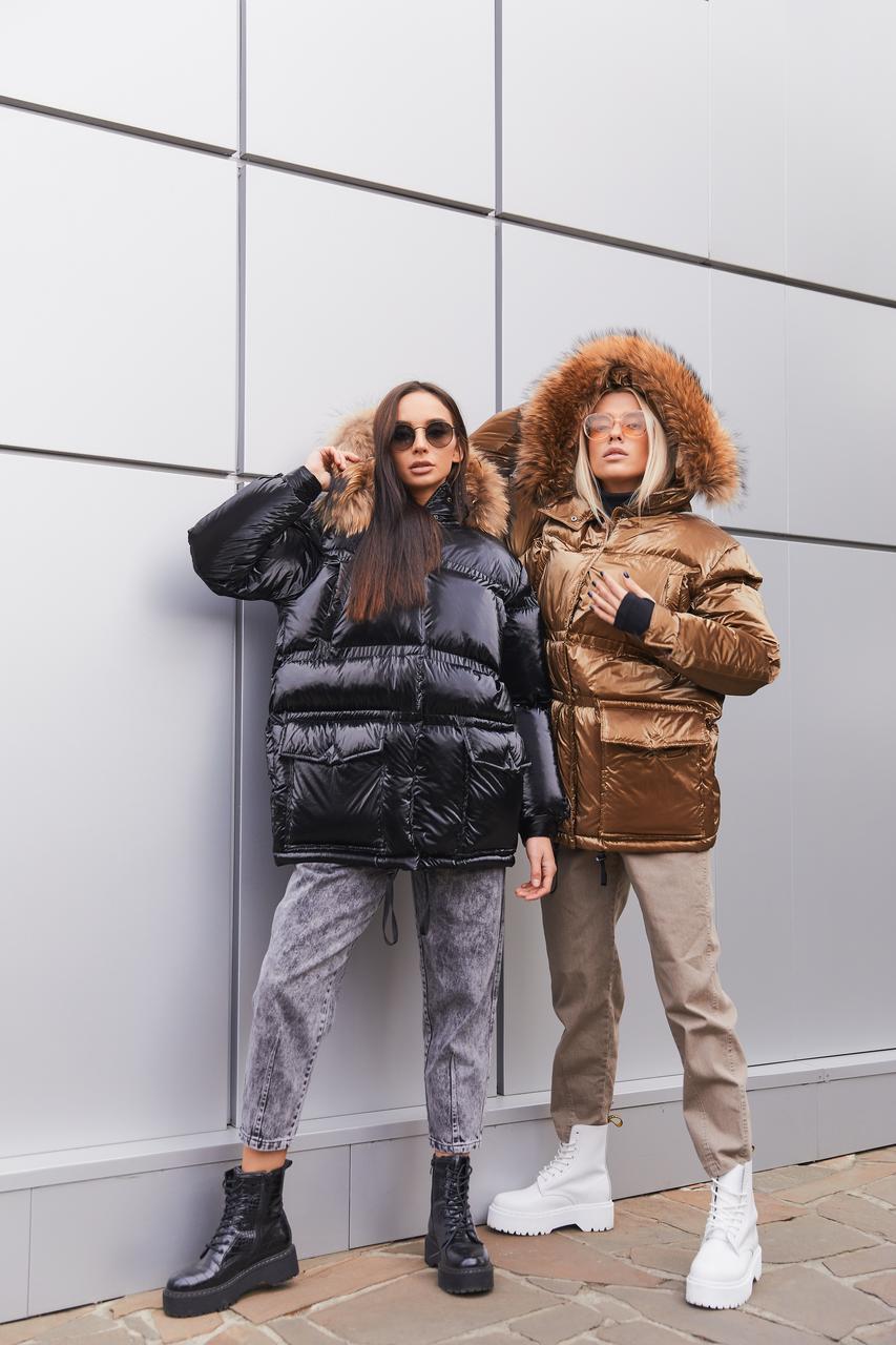 Женская стильная зимняя куртка К-128