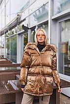 Женская стильная зимняя куртка К-128, фото 2