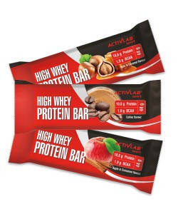 Заменитель питания Activlab High Whey Protein Bar (44g ice coffee)