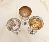 Винтажные посеребренные бокалы, серебрение по латуни, Испания, Англия, для вина, фото 3