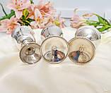 Винтажные посеребренные бокалы, серебрение по латуни, Испания, Англия, для вина, фото 8