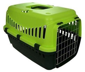Переноска ДЖИПСІ 2 GIPSY 2 large для великих кішок і собак, металеві двері, 58 х 38 х 38 см, зелена