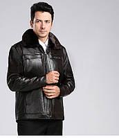 Елегантна чоловіча зимова дублянка. Модель 9001, фото 3