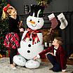 "А 35"" x 55"" AirLoonz Snowman Greeter Foil Multi-Balloon - Pkg. Фольгированный шар ходячка Снеговик. В уп, фото 2"