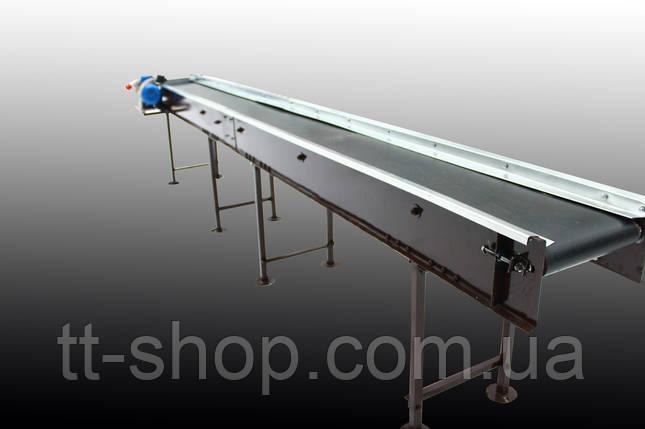 Стрічковий конвеєр довжиною 18 м, ширина 300 мм дв. 5,5 кВт, фото 2
