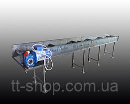 Стрічковий конвеєр довжиною 18 м, ширина 300 мм дв. 5,5 кВт, фото 3