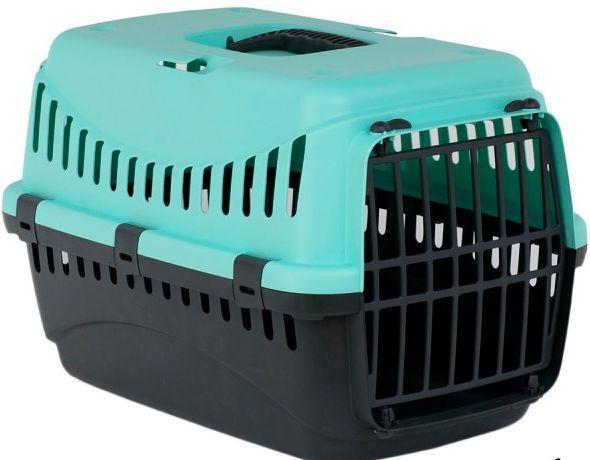 Переноска ДЖИПСИ 2 GIPSY 2 large для больших кошек и собак, пластиковые двери, 58 х 38 х 38 см, голубая