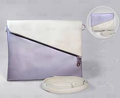 """Сумочка """"Tiffany""""  05 фиолетово - белая"""