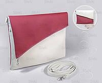 """Сумочка """"Tiffany""""  07 бело-розовая, фото 1"""