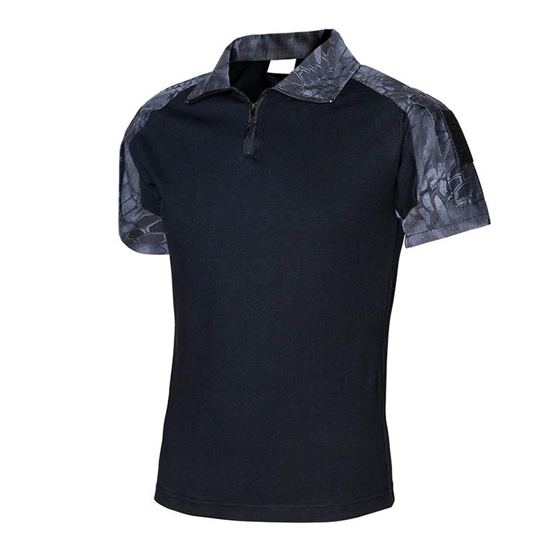 Тактична футболка з коротким рукавом Lesko A416 Black Typhon L чоловіча для військових поліції армійська