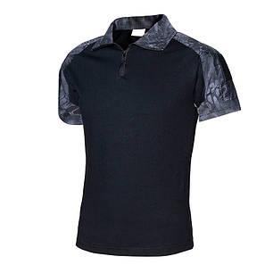 Тактическая футболка с коротким рукавом Lesko A416 Black Typhon L мужская для военных полиции армейская, фото 2