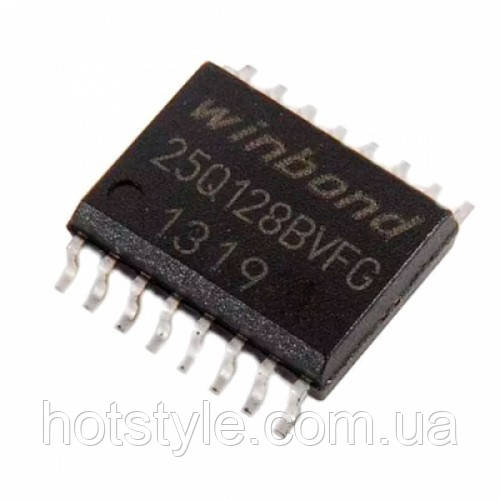 Чип W25Q128 W25Q128BVFG 25Q128BVFG SOP16 300mil, 128Мб Flash SPI, 104466