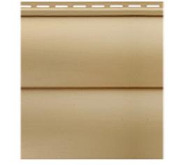 Сайдінг Блок-хаус вініловий двопереломний золотистий 3,1*0,32м