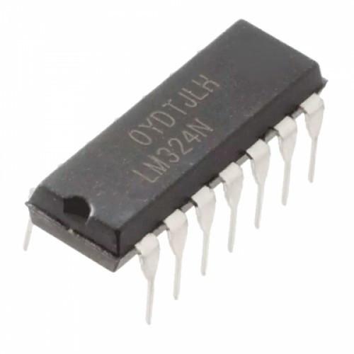 Чип LM324N LM324 DIP14, Операционный усилитель 4-канальный, 104395