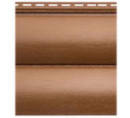 Сайдінг Блок-хаус вініловий двопереломний дуб світлий 3,1*0,32 м