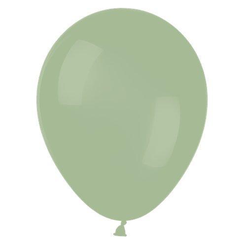 """В 5"""" Deluxe Eucalyptus Latex Balloons. Латексные шары круглые без рисунка. Эвкалипт"""