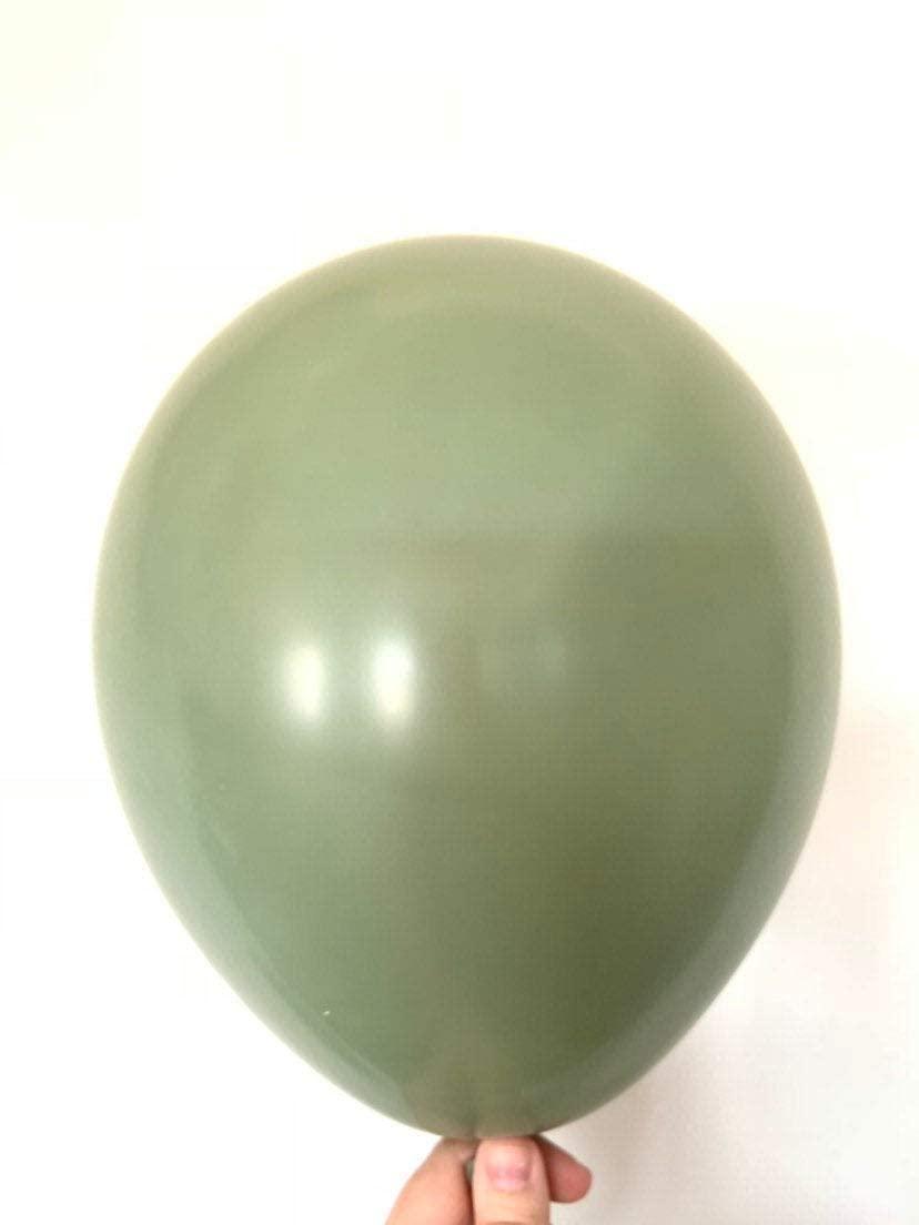"""В  11"""" Deluxe Eucalyptus Latex Balloons. Латексные шары круглые без рисунка. Эвкалипт"""
