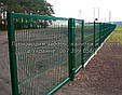 Забор 3D: Панель Сварная 2,4х2,5м (зеленая) D прута 4мм, фото 2