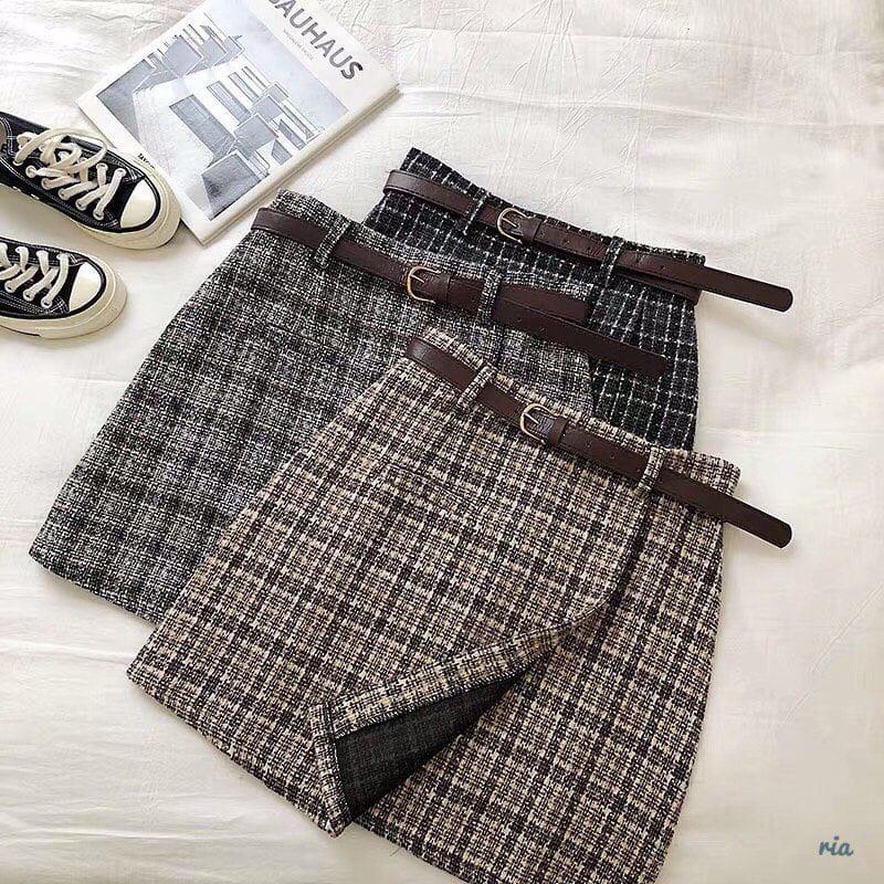 Тёплые юбки. Размеры: М-42, L-44 • расцветки: чёрный, серый, беж (6067)