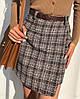 Тёплые юбки. Размеры: М-42, L-44 • расцветки: чёрный, серый, беж (6067), фото 7