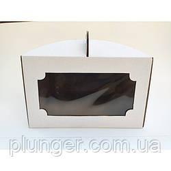 Коробка картонна для торта біла, 25 см х 25 см х 15 см, мікрогофрокартон (25Т) да