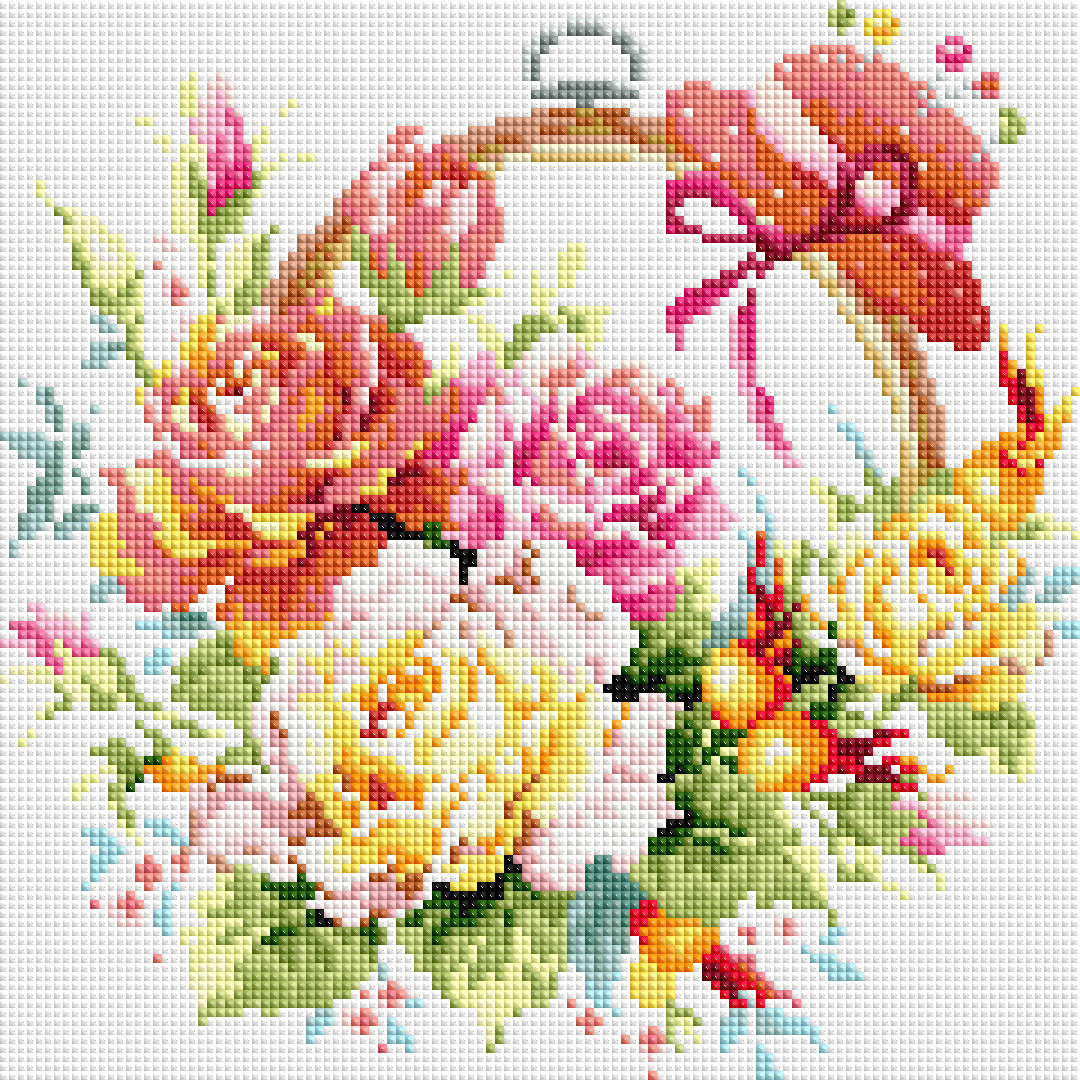 Набор алмазной вышивки NKF Розы в корзине H0231