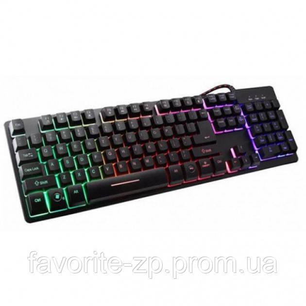 USB проводная компьютерная клавиатура ZYG 800 с подсветкой