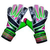 Воротарські рукавички SportVida зелені Size 5 латекс SV-PA0002 SKL41-161712