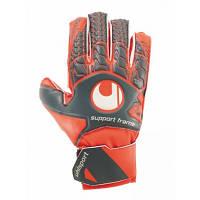 Воротарські рукавички Uhlsport Aerored Soft SF Junior Size 7 Orange-Grey SKL41-227587