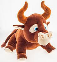 Мягкая игрушка Бык коричневый 40 см
