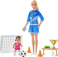 Кукла Барби тренер по по футболу Barbie Soccer Coach Playset with Blonde Soccer Coach Doll, фото 1