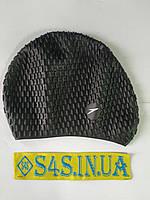 Шапочка для плавания на длинные волосы Speedo Bubble Чёрный