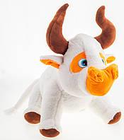 Мягкая игрушка Бык белый 40 см белый, фото 1