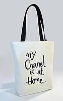 """Женская сумка """"My Chanel is at Home"""" Б340 - белая, фото 1"""
