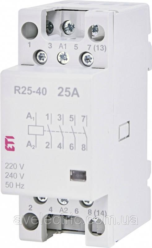 Контактор модульный RD 25-40 230V AC/DC, ETI, 2464010