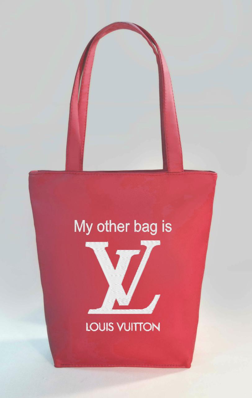 """Женская сумка """"My other bag is LV"""" Б347 - розовая"""