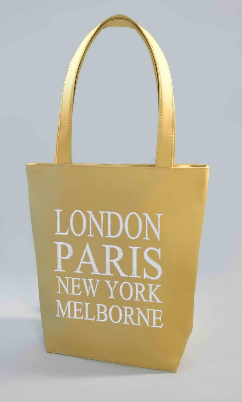 "Женская сумка ""London, Paris"" Б346 - бежевая"