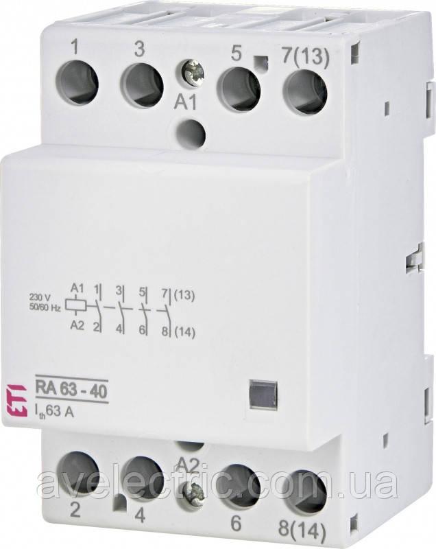 Контактор модульный RD 63-22 230V AC/DC, ETI, 2464030