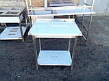 Стол с бортом и полкой  800х600х850, фото 2