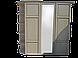 Шкаф витрина из массива  (эмаль белая), фото 4