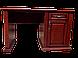 Письменный стол  из  дерева Верона (белый+пат.серебро), фото 3