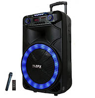 Колонка аккумуляторная с микрофоном ZPX ZX-7766 200W (Bluetooth/USB/FM/TWS)