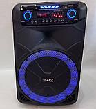 Колонка акумуляторна з двома мікрофонами ZPX ZX-7766 200W (Bluetooth/USB/FM/TWS), фото 3