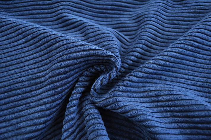 Вельвет, темно синий, фото 2